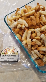 Did you know they made stuffing bread!?! I didn't.
